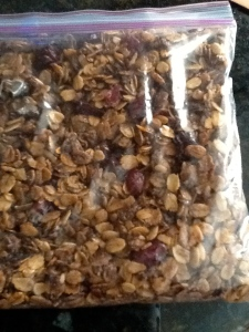 Cranberry almond granola.