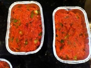 Prepared loaf pans.